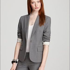 Theory Grey Fitted Career Blazer
